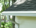 Gutter Guard Pitched With the Roof