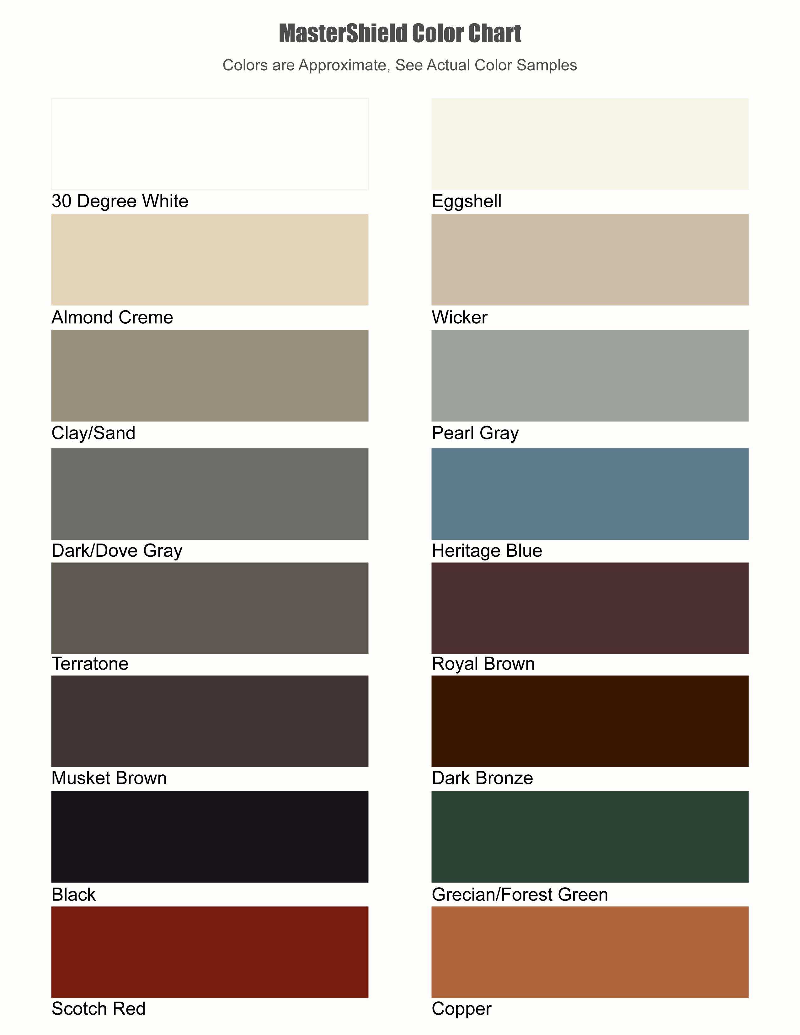 Paint Shield Colors
