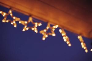 Christmas Lights on Gutter Guard