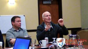 Alex Higginbotham Explaining Technology to MasterShield Dealers